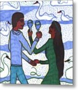 Tarot Of The Younger Self Two Of Cups Metal Print