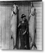 Tarpon Fishing 19th Century  Metal Print