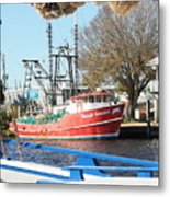 Tarpon Springs Shrimp Boat Metal Print