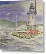 Tarrytown Lighthouse From The South Metal Print