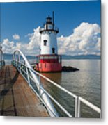 Tarrytown Lighthouse Hudson River New York Metal Print by George Oze