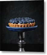 Tartlet With Blueberries Metal Print
