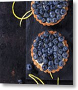 Tartlets With Blueberries Metal Print