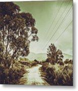Tasmania Country Roads Metal Print