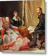 Tasso And Elenora Metal Print by Domenico Morelli