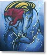 Tasunka Witko- Crazy Horse Metal Print