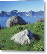 1m4862-tatoosh Range And Mt. St. Helens  Metal Print