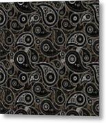 Taupe Brown Paisley Design Metal Print