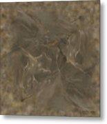Taupe Fractal Composition Metal Print