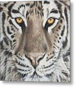 Taupe Tiger Metal Print