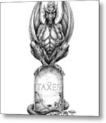 Taxes Metal Print