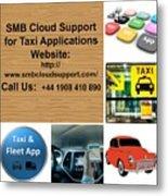 Taxi Booking Application Metal Print