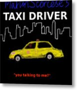 Taxi Driver Movie Poster Metal Print