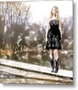 Taylor Swift Watercolor Metal Print