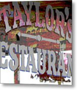 Taylors Metal Print