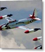 Tbirds Lockheed T-33 Shooting Star Metal Print