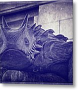 Tcu Horned Frog Purple Metal Print