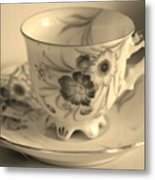 Tea Cup Metal Print
