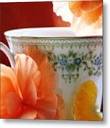 Tea In The Garden Metal Print