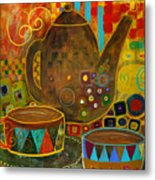 Tea Party With Klimt Metal Print