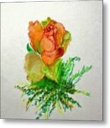 Tea Rose                        Copyrighted Metal Print