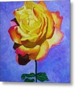 Tea Rose Metal Print