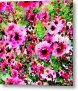 Tea Tree Garden Flowers Metal Print
