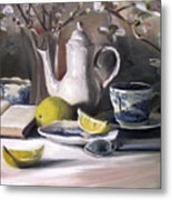 Tea With Lemon Metal Print