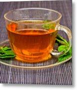 Tea With Mint Metal Print