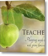 Teachers Metal Print