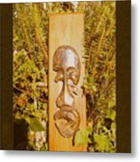 Teak Man Mask Metal Print