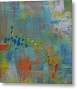 Teal Abstract, A New Look Again Metal Print
