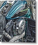 Teal Wonder Metal Print