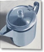 Teapot Still Life Oil Painting Metal Print