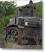Tearing It Up - M3 Stuart Light Tank Metal Print