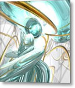 Teary Dreams Abstract Metal Print