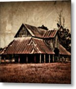 Teaselville Texas Barns Metal Print