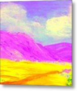 Technicolor Desert Metal Print