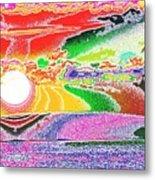 Technicolor Sunset Metal Print