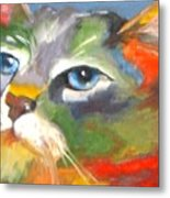 Technicolor Tabby Metal Print