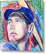 Ted Williams Boston Redsox  Metal Print by Jon Baldwin  Art