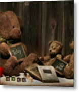 Teddy Bear School Metal Print by Tom Mc Nemar