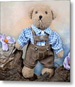 Teddy On Tour Metal Print