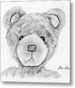 Teddybear Portrait Metal Print