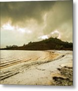 Teds Beach At Dusk Metal Print