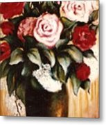 Ted's Flowers Metal Print