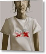 Tee Shirt Portrait Metal Print