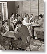Teens At A Diner, C. 1950s Metal Print