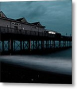 Teignmouth Pier At Dusk  Metal Print