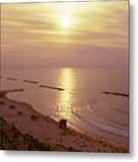 Tel Aviv Beach Morning Metal Print